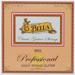 LaBella Multi-String Guitars snarenset  klassiek 8-snarig, clear nylon trebles & silverplated basses