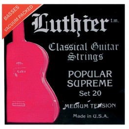 Luthier snarenset klassiek / flamenco, Popular Supreme, medium tension