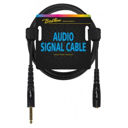 Audio signaalkabel, 6.3mm female jack stereo naar 6.3mm jack stereo, 0.75 meter
