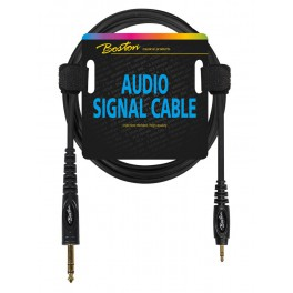 Audio signaalkabel, 3.5mm jack stereo naar 6.3mm jack stereo, 0.75 meter