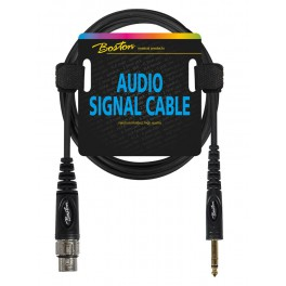 Audio signaalkabel, XLR female naar 6.3mm jack stereo, 0.75 meter