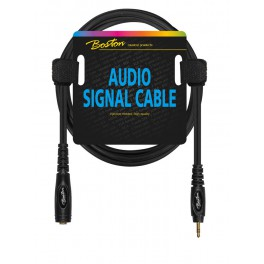 Audio signaalkabel, 6.3mm female jack stereo naar 3.5mm jack stereo, 0.75 meter