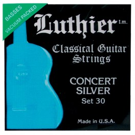 Luthier snarenset klassiek, Concert White Silver, medium-hard tension