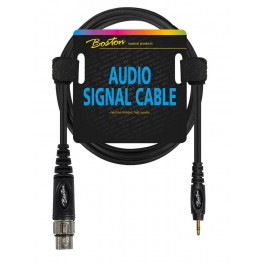 Audio signaalkabel, XLR female naar 3.5mm jack stereo, 0.30 meter