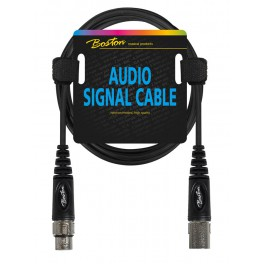 Audio signaalkabel, XLR female naar XLR male, 0.30 meter