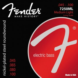 Fender Super 7250s string set electric bass nickel roundwound medium light 045-065-080-100