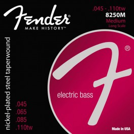 Fender Super 8250s string set electric bass (strings through body) nickel roundwound medium 045-065-085-110TW