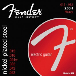 Fender Super 250s string set electric nickel roundwound heavy 012-016-024-032-042-052
