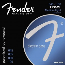 Fender Original 7150s string set electric bass pure nickel roundwound medium light 045-065-080-100