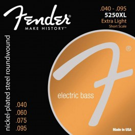 Fender Super 5250s string set electric bass nickel plated steel shortscale 30  extra light 040-060-075-095