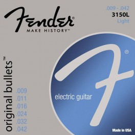 Fender Original Bullets string set electric pure nickel roundwound light 009-011-016-024-032-042