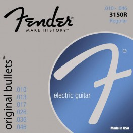 Fender Original Bullets string set electric pure nickel roundwound regular 010-013-017-026-036-046