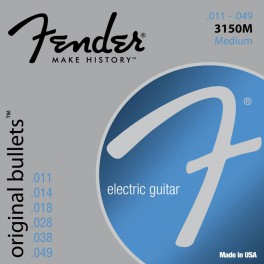 Fender Original Bullets string set electric pure nickel roundwound medium 011-014-018-025-038-048