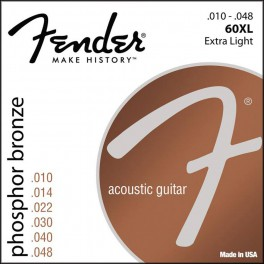 Fender Phosphor Bronze string set acoustic ph.bronze roundwound extra light 010-014-022-030-040-048