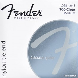 Fender string set classic clear & silver 028-029-032-035-040-043