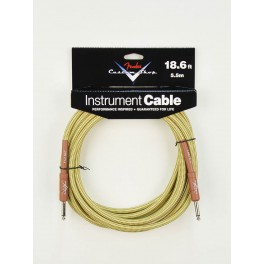 Fender Custom Shop Series instrument cable 18.6ft tweed