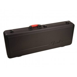 Fender ABS molded case for electric guitar with rubber over-molded handle and TSA latching system