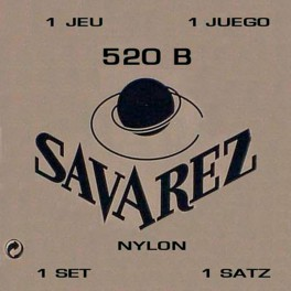 Savarez snarenset klassiek, Blanc, rectified nylon, traditional basses, soft tension