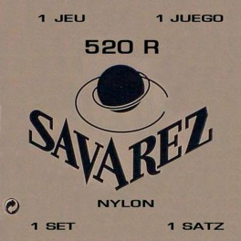 Savarez snarenset klassiek, Rouge, rectified nylon, traditional basses, hard tension