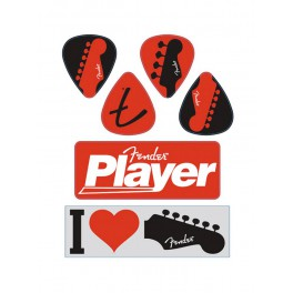 Fender I love Fender' die-cut stickers set of 6