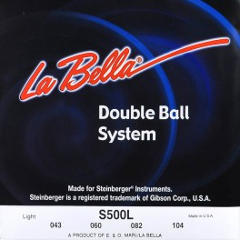 LaBellaDouble Ball End System  string set electric bass, for Steinberger, stainless steel flatwound, light, 043-060-082-104