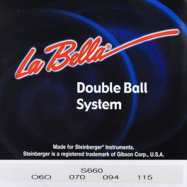 LaBellaDouble Ball End System  string set electric bass, for Steinberger, black nylon tapewound, 060-070-094-115