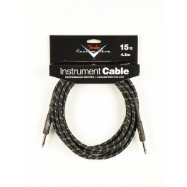 Fender Custom Shop Series instrument cable, 15ft, black tweed