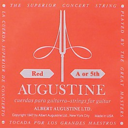 Augustine Red Label A-5 snaar voor klassieke gitaar, silverplated wound nylon, hard tension