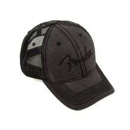 Fender Clothing Headwear blackout trucker hat, one size fits most