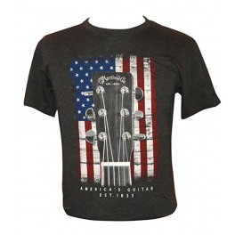 Martin T-shirt American Flag charcoal - size M