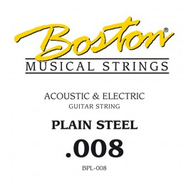 Boston .008 snaar, plain steel