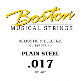 Boston .017 snaar, plain steel