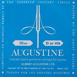 Augustine Blue Label D-4 snaar voor klassieke gitaar, silverplated wound nylon, extra hard tension