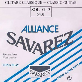 Savarez Alliance Classic G-3-snaar, clear KF composite fiber, sluit aan bij 540-J set, hard tension