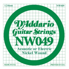 D'Addario XL Nickel Round Wound .049 snaar, nickel roundwound
