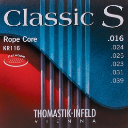 Thomastik Classic S snarenset klassiek, rope core flatwound