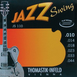 Thomastik Jazz Swing snarenset elektrisch, nickel flatwound, 010-014-018-023-033-044