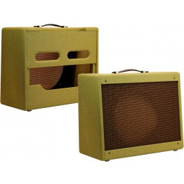 Narrow Panel Tweed 5E3 Deluxe Style Cabinet