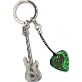 GA  Bass Guitar Metal Keyring
