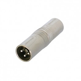Neutrik Grey NA3MM 3 Pole XLR Male To Male