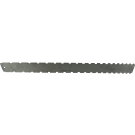 """Notched Straightedge - 16.5"""" x 1.5"""", Stainless Steel, Satin"""