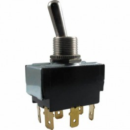Carling 2GM73-73 DPDT, 12A/250V toggle switch ON-OFF-ON
