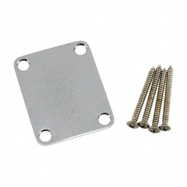 Fender Genuine Replacement Part neck plate Road Worn, chrome, 4 bolt