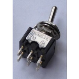 Toggle Switch DPDT/ON-ON  3A/250VA