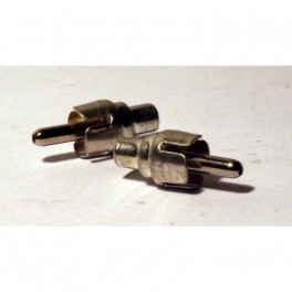 RCA Plug, chrome, for older Fender Footswitch