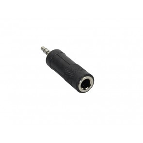 Verloop plug, 6,3mm jack female stereo, 3,5mm jack male stereo