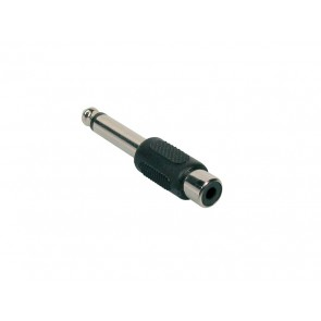 Verloop plug, RCA female 6,3mm jack male mono