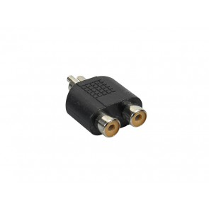 Verloop plug, 2x RCA female, RCA male