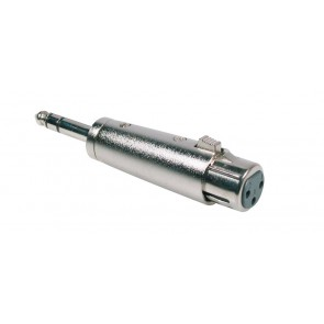 Verloop plug, XLR female metaal, 6,3mm jack male stereo