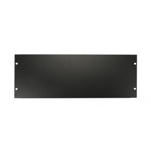 19 inch rack panel, 4 HE, metal, black, rack plate, bended edge